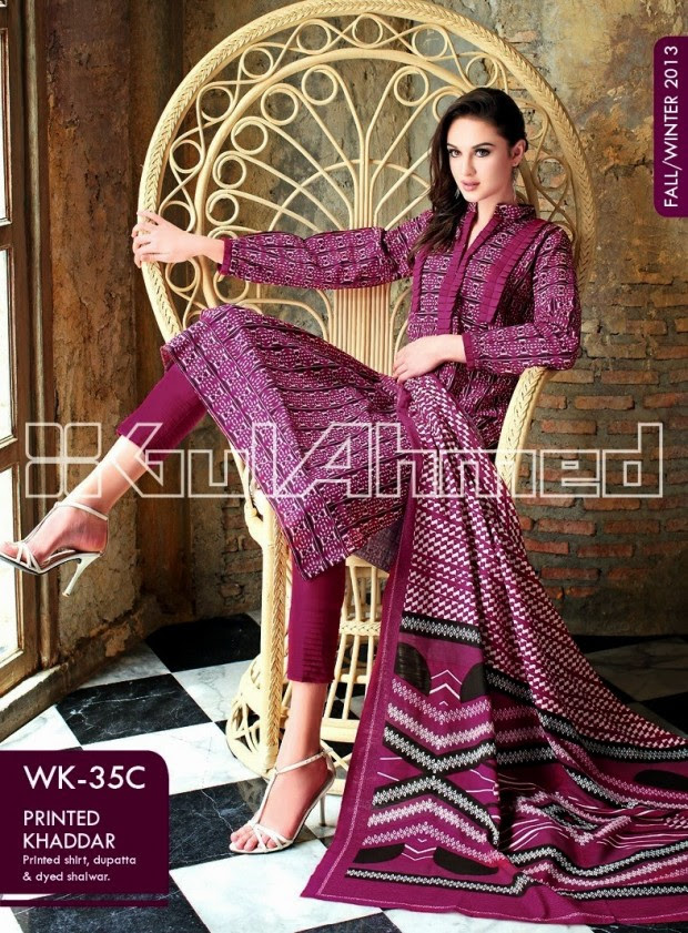 Beautiful-Cute-Girls-New-Fashionable-Dress-Design-by-Gul-Ahmed-Fall-Winter-Collection-2013-14-10