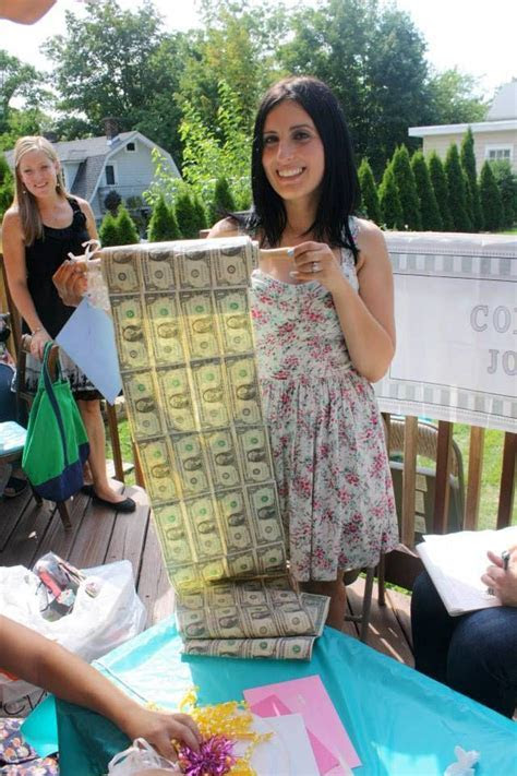 Bridal shower gift. Rolling in dough. Bride. Wedding