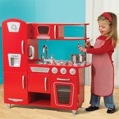 kidkraft red vintage kitchen 53173: red vintage kitchen