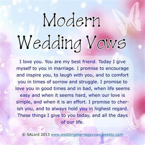 "Modern Wedding Marriage Vows   Sample Vow Examples   ""You"