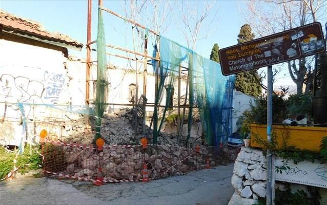 Ακόμη ένα ιστορικό κτήριο κατέρρευσε κάτω από τον λόφο της Ακρόπολης
