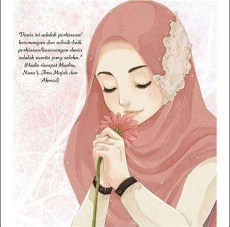 foto hijab kartun  gambar kartun wanita cantik terbaru