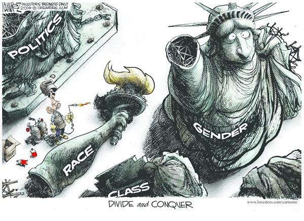 Image result for racial divide cartoons
