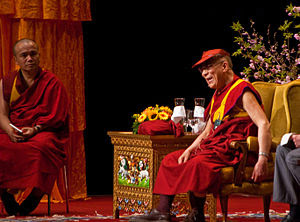 The Dalai Lama in Zurich Hallenstadion