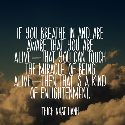 Thich Nhat Hanh Quote On The Miracle Of Being Alive Parryzcom