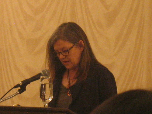Joanne Beard  reading during the Annual Writers Festival