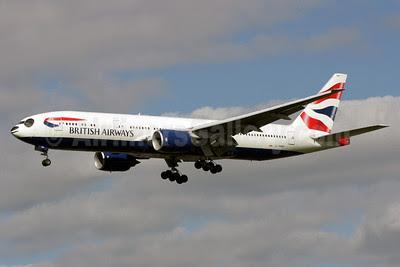 British Airways Boeing 777-236 ER G-YMMH (msn 30309) (Panda Jet) LHR (Antony J. Best). Image: 913652.