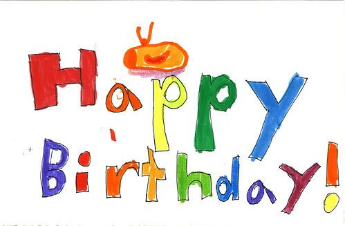 Ava Thursday: Birthday Card inside