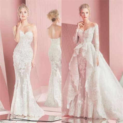 2016 Zuhair Murad Wedding Dresses Spring Lace Long Sleeves
