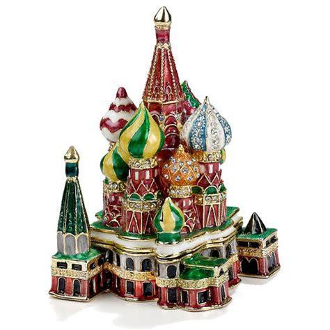 St. Basil's Cathedral Enamel Jeweled Trinket Box