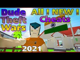 Dude Theft Wars Cheat Codes 2021 All new updated - $ UNLIMITED MONEY $