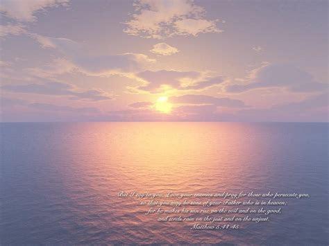 Matthew 5:44 45   Love Your Enemies Wallpaper   Christian