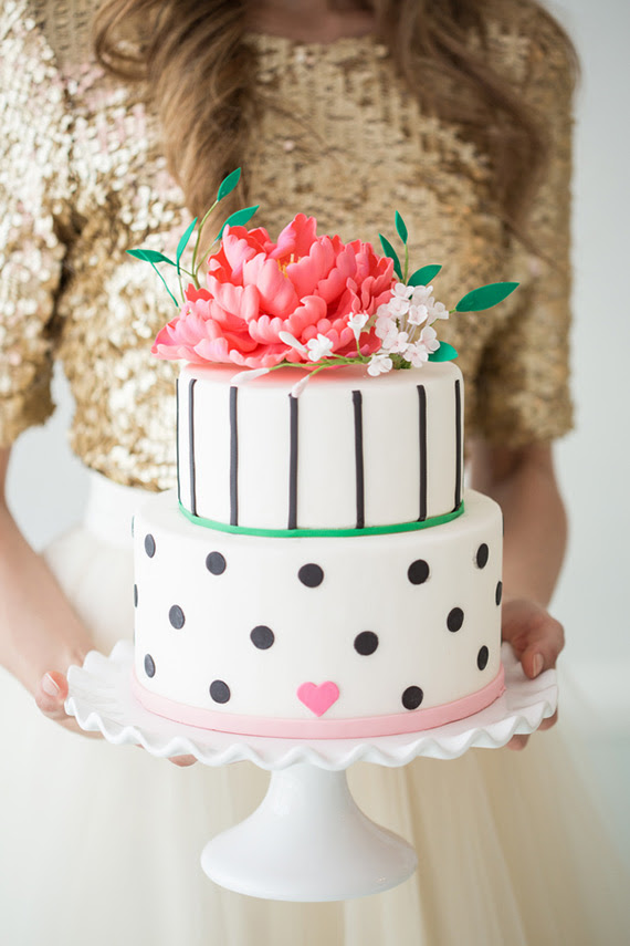 Modern Pink Black White Party Ideas 100 Layer Cake
