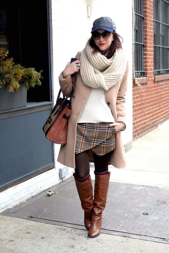 outfit remix plaid skirt  my style pill