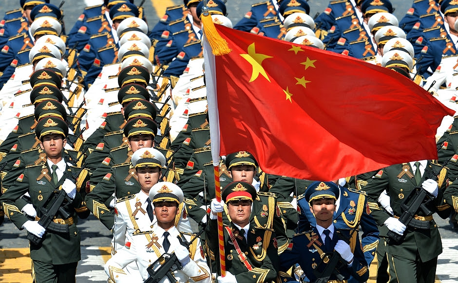Chinese Forces in Moscow for Vday