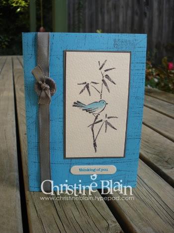 Asian Artistry turquoise bird