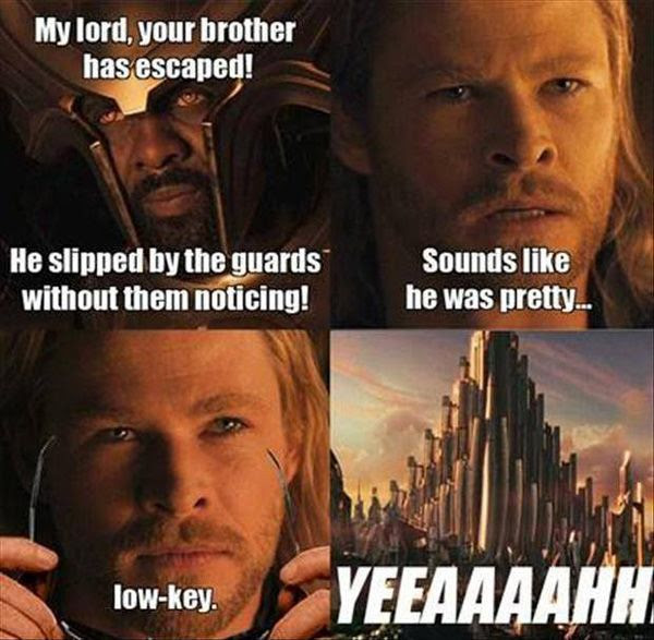 THOR pokes fun at the old CBS TV show, CSI: MIAMI.