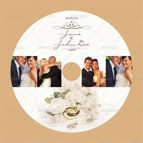 15 Beautiful Wedding CD/DVD Cover Templates   WEDDING