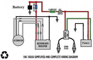 650 Rider Xs650 Motorcycle Systems Electrical Testfire Wiring Diagram Will It Work