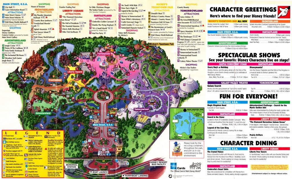 magic kingdom map 2011. Magic Kingdom Guidemap 1998