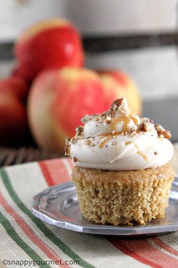 Caramel Apple Butter Cupcakes | Snappy Gourmet