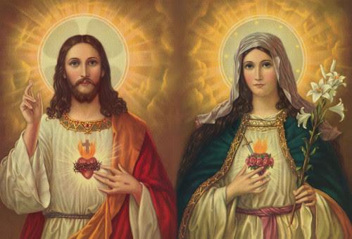 sagrado corazon de jesus e inmaculado de maria