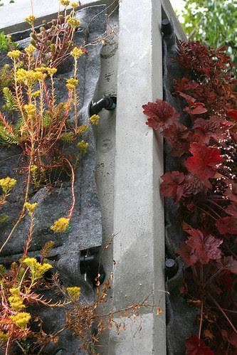 vertical garden irrigation detail