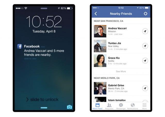 Facebook lança recurso que notifica sobre amigos que estão próximos