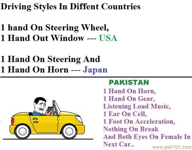 Funny Picture Driving Style In Different Countries Pak101com