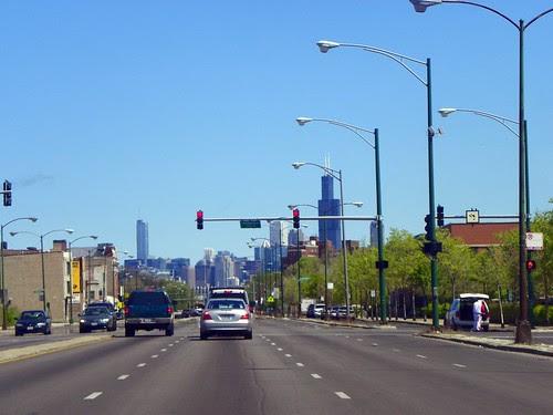 4.18.2010 Sunday in Chicago; Ogden Ave , Willis Tower, Trump Tower