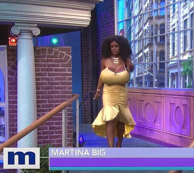 Martina told the host: 'I am black. That is my race. I can't wait to go to Africa because I hear the food is tasty'. She said on the show: 'I am the proud owner of black skin,' she tells the audience on the show