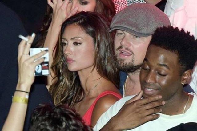 ليوناردو مع فتاة في كان