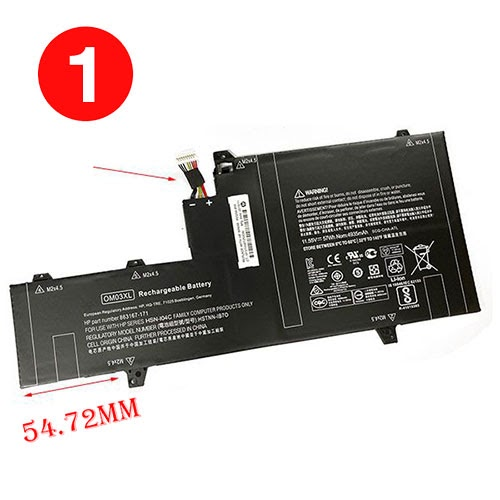 Brand New OM03XL replacement battery for HP EliteBook 1030