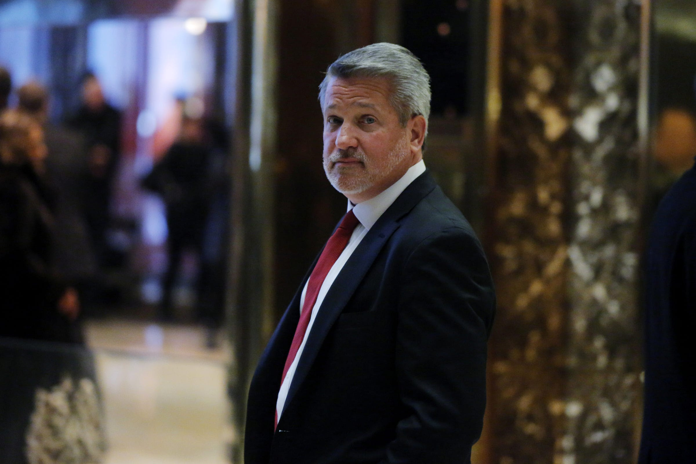 Fox News President Bill Shine departs after meeting with U.S. President-elect Donald Trump at Trump Tower in the Manhattan borough of New York, U.S., November 21, 2016.