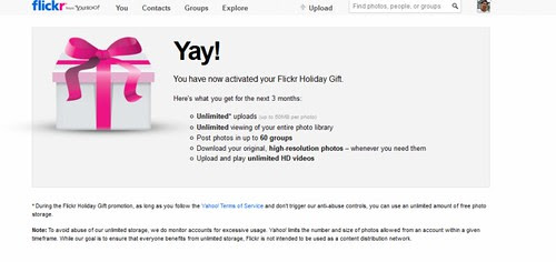 Flickr holiday gift!  - yey! thank you