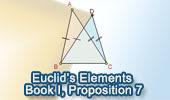 Euclid's Elements Book I, Proposition 7.