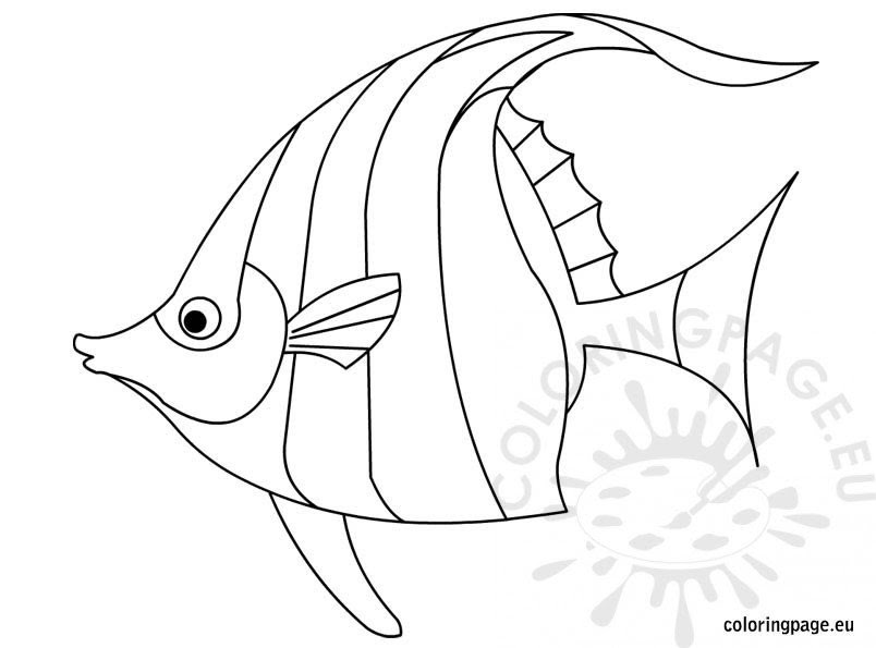 Fish - Coloring Page