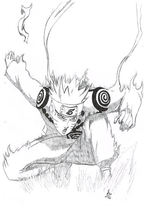 tailed fox naruto drawing