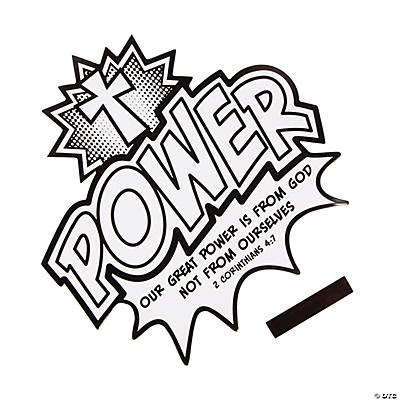 color your own power is from god cutout magnets~13733295
