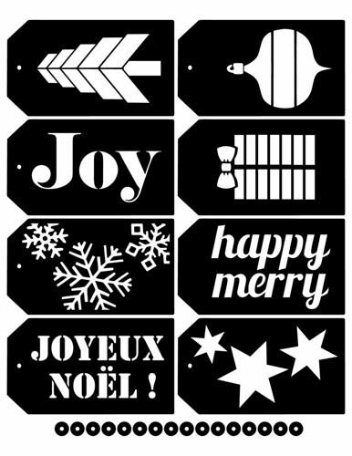 Christmas tag SVG