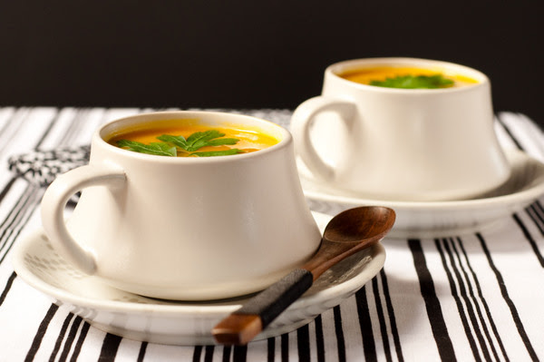 Pumpkin soup with a twist