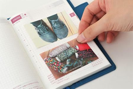 ほぼ日一年生です。 写真を手帳に貼りたいと思い、コンビニなど  - 手帳 写真 貼る
