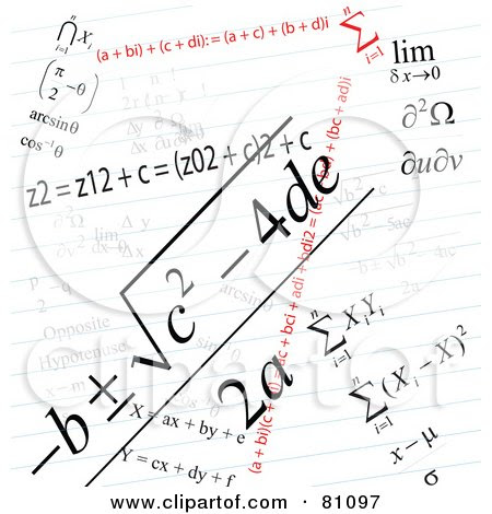 Royalty-Free (RF) Clipart Illustration of a Math