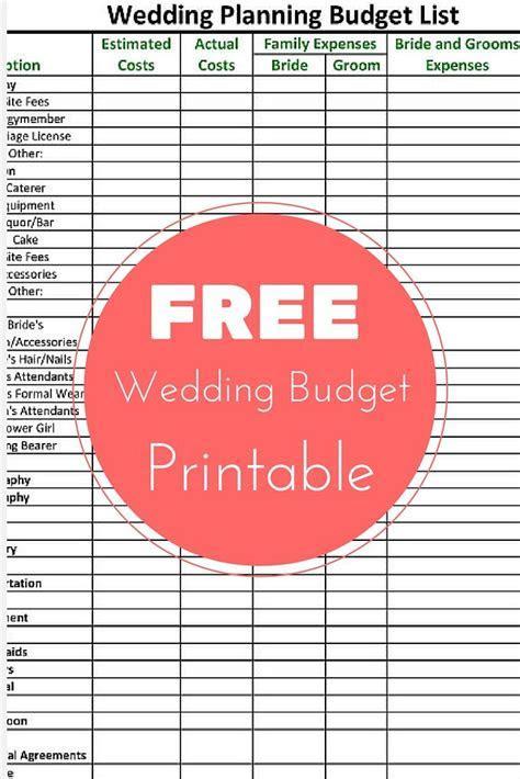 Planners: Best Wedding Budget Worksheet For Wedding
