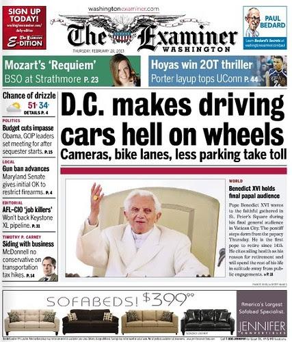 Washington Examiner cover, 2/28/2013