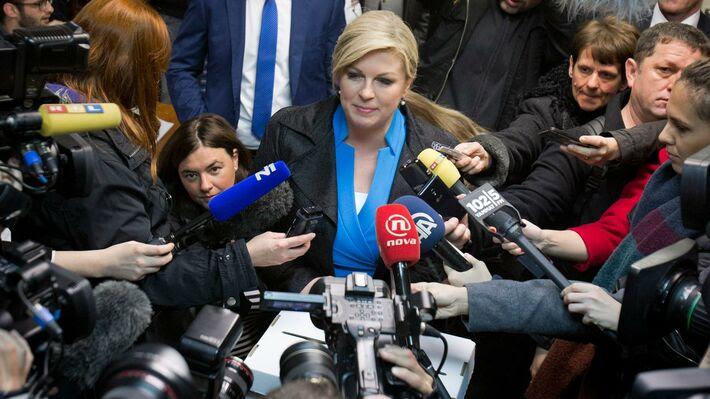 Η πρόεδρος της Κροατίας Κόλιντα Γκράμπαρ - Κιτάροβιτς (φωτό ΑΡ)