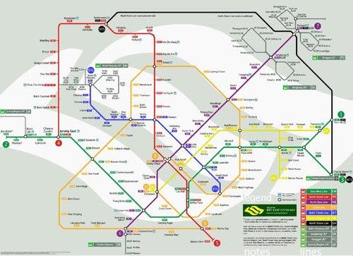 Схема на метрото в Сингапур