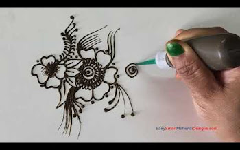 Flower Tattoo Design with mehndi