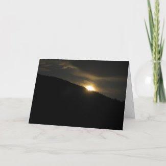 Super Moon over Washington Mountain Greeting Cards
