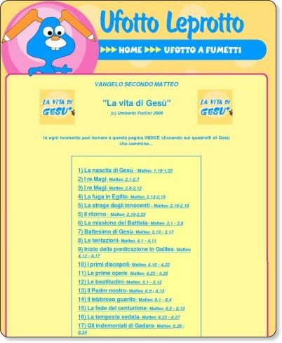 http://www.ufottoleprotto.com/vangelo.htm